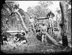 Gulgong miners, 1872. - Photo Credit: Beaufoy Merlin / Charles Bayliss  -    Images from the late 1800s depict the heady excitement of Australia's Gold Rush period.