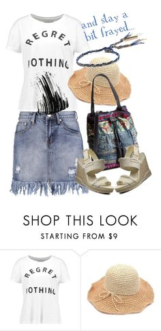 """Talk about frayed ;-)"" by amisha73 ❤ liked on Polyvore featuring even&odd and Marc Jacobs"