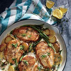 weeknight lemon chicken skillet dinner recipe