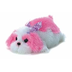 """Positively Pink with our stuffed 12"""" Maddy Dog."""