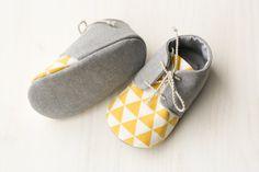 Grau und gelb jungen Babyschuhe Oxford von MartBabyAccessories