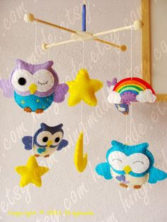 Baby Mobile - Owl Mobile - Nursery Mobile - Decorative Nursery Mobile - Lavender Purple