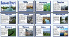 FREE Geography Teaching Resource - Famous Rivers of the World Classroom Display Posters Geography For Kids, Physical Geography, Geography Lessons, Teaching Geography, World Geography, Primary Teaching, Teaching Resources, Rainforest Classroom, Ocean Projects