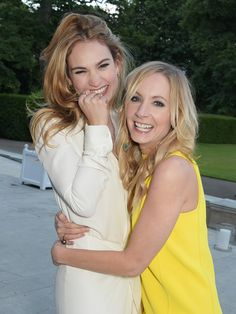 Downton Downstairs.. .Actresses Joanne Froggatt and Lily James attend The Ralph Lauren & Vogue Wimbledon Summer Cocktail Party hosted by Alexandra Shulman and Boris Becker at The Orangery at Kensington Palace on June 22, 2015 in London, England. ..