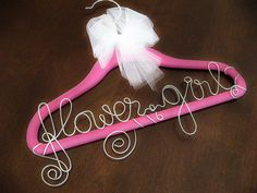 Personalized hanger for the flower girl