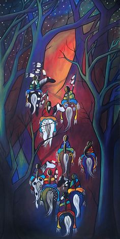 Long Journey Home  Native American Painting by janoliver on Etsy, $1200.00 American Indian Art, American Indians, Native Art, Native Indian, Native American Paintings, Native American Artists, Native American Pictures, Long Painting, Southwestern Art