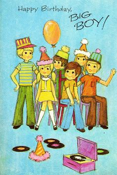 Child Birthday Card To Big Boy Vintage 1960's NOS Unused by Avaricia's Deadly Sinful Vintage Millinery Supply, via Flickr