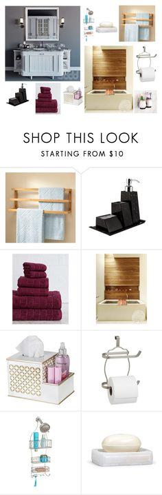 """Open Bathrom"" by adnail-osne14 on Polyvore featuring interior, interiors, interior design, home, home decor, interior decorating, Scandola Marmi, American Dawn, InterDesign and Labrazel"