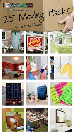 Move or Stay and Remodel? 25 Moving Hacks!