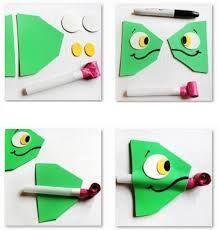como hacer unos camaleones de papel - Buscar con Google