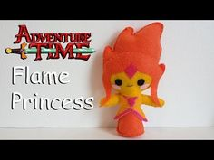How to Make an Adventure Time Flame Princess plushie tutorial - YouTube