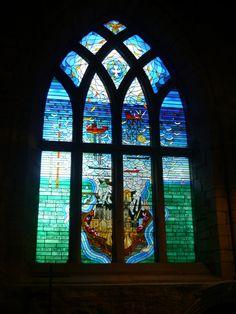 Stained glass window in St John's Chapel, the Kirk of St Nicholas, Aberdeen - Doors Open Days Adventures