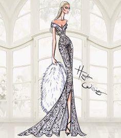 Hayden Williams Fashion Illustrations: Hayden Williams Haute Couture SS15: Look 1