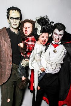 Neil Patrick Harris and David Burtka got ghoulish with their 3-year-old twins Harper and Gideon on Halloween.