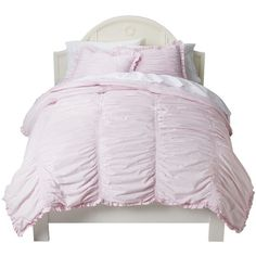 Ruched Comforter Set - Simply Shabby Chic™ : Target ❤ liked on Polyvore featuring home, bed & bath, bedding, comforters, ruched bedding, shabby chic bed linen, shabby chic comforter sets, ruched comforter set and ruched comforter