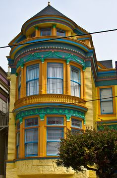 Easter Egg colored Homes of San Francisco
