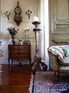 interior decoration with antique furniture