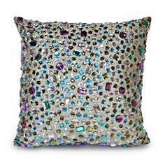 Peacock Gemstone 14x14-inch Pillow