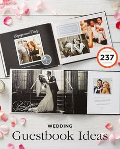 237 Wedding Guestbook Ideas: Create a wedding photo book album to capture the big day and beyond.