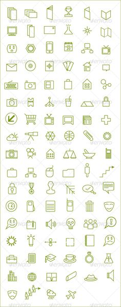 100 Outlined Icons