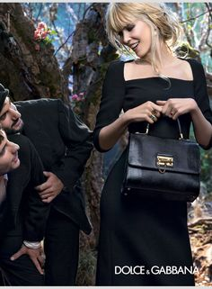 2b5d9aafc71 Claudia Schiffer   Bianca Balti Star In Dolce   Gabbana Fall 2014 Campaign  - Fashion Whipped