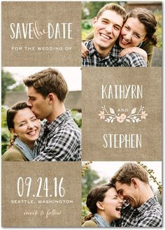 Wreathed in Love - Save the Date Postcards - Lady Jae - Cashmere Pink - Pink…
