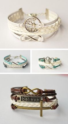 Infinity Bracelet Unique [ HGNJShoppingMall.com ] #accessories