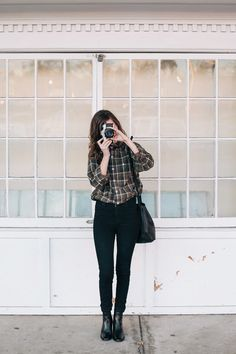 black madewell boots - black high waisted BDG jeans