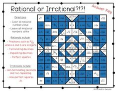 Rational and Irrational Numbers Worksheet Worksheets