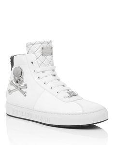 "PHILIPP PLEIN HIGH SNEAKER ""BONES"". #philippplein #shoes #"