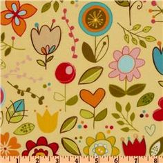 Riley Blake Sunny Happy Skies Flannel Large Floral Yellow - Discount Designer Fabric - Fabric.com