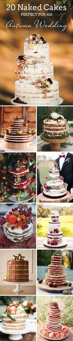 20 Naked Cakes Perfect for a Fall Wedding | SouthBound Bride | Full credits & links: www.southboundbri...