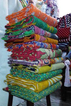 Indian Vintage Kantha Quilt Reversible Throw Gudari Bedspread Ralli Decor 10 PC #Handmade #Traditional