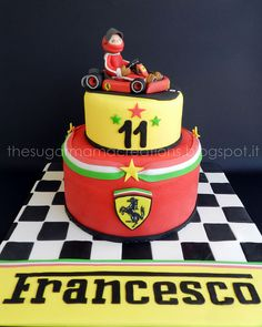 Check out this awesome #ferrari cake! #party #birthday #racing