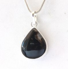 NATURAL BLACK ONYX CHARMING FASHION JEWELRY 925 SILVER OVERLAY PENDANT FOR HER #925silvercastle #Pendant