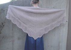 Tan Shawl with Lace Edge, Hand Knit, Light Brown, Prayer Shawl Wrap, Thick & Warm by Girlpower on Etsy https://www.etsy.com/listing/210676100/tan-shawl-with-lace-edge-hand-knit-light