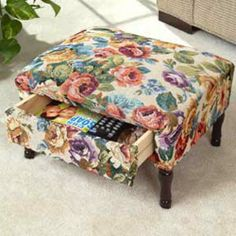 TAPESTRY FOOTSTOOL WITH DRAWER | Taylor Gifts