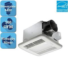 Delta Breez Greenbuilder Series 100 Cfm Ceiling Bathroom Exhaust Fan With Dimmable Led Light Energy Star White