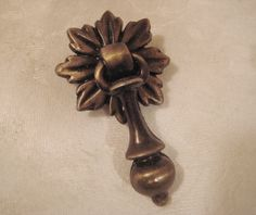 1 Vintage Brass Drop Style Drawer Pull by StarPower99 on Etsy, $3.00