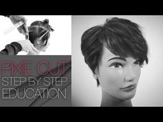 How to cut The Tyra Banks Pixie Haircut - Step by Step - Q & Haircut - YouTube