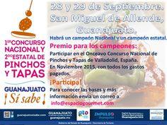 2º Concurso Estatal y 1º Nacional de Pinchos y Tapas, Guanajuato ¡Si Sabe!