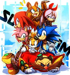 Sonic,amy,Tails,knukles,sticks y otra Sonic Fan Art, Sonic 3, Sonic And Amy, Sonic And Shadow, Sonic Dash, Sonic Funny, Sonic Mania, Sonic The Hedgehog, Silver The Hedgehog