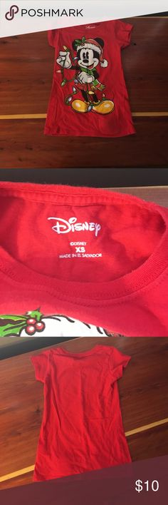 Disney Mickey Mouse Christmas Singing Shirt XS Disney Mickey Mouse Christmas shirt plays the jingle bells tune. (Tested and works). Such a fun shirt for a Christmas party. Disney Shirts & Tops Tees - Short Sleeve