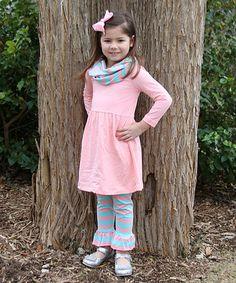Look at this #zulilyfind! Pink & Blue Three-Piece Dress Set - Toddler #zulilyfinds