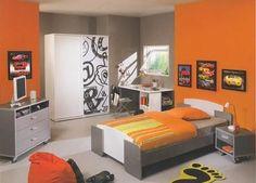 Peinture Chambre Orange Et Gris | Unixpaint