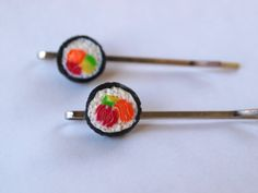 Hey, I found this really awesome Etsy listing at https://www.etsy.com/listing/180602025/2-sushi-bobby-pins-hair-pins-in-fimo
