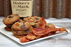 Bourbon Bacon Chocolate Chunk Cookies from Recipe Girl. Bake them from scratch - perfect addition to any party! #Sweet and #Salty