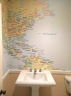 Used national geographic maps to wallpaper reused medicine cabinet used national geographic maps to wallpaper reused medicine cabinet from house next door reused cabinet doors from the kitchen we tore out gumiabroncs Images
