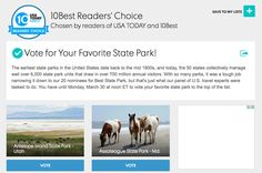 Roadtrekers love State Parks. I just served as one of five travelexpert judges for USA Today and a travel story they published to come up with the 20...