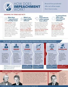 Knowledge Chop 📚 How does impeachment work, you ask? Click Image or Website Link for full sized images and more info. Share-with-a-Friend to chop them with knowledge. Running For President, Presidential Election, Republican Senators, How To Create Infographics, Serious Business, Political Memes, Recent News